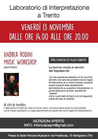 Andrea Rodini Music Workshop