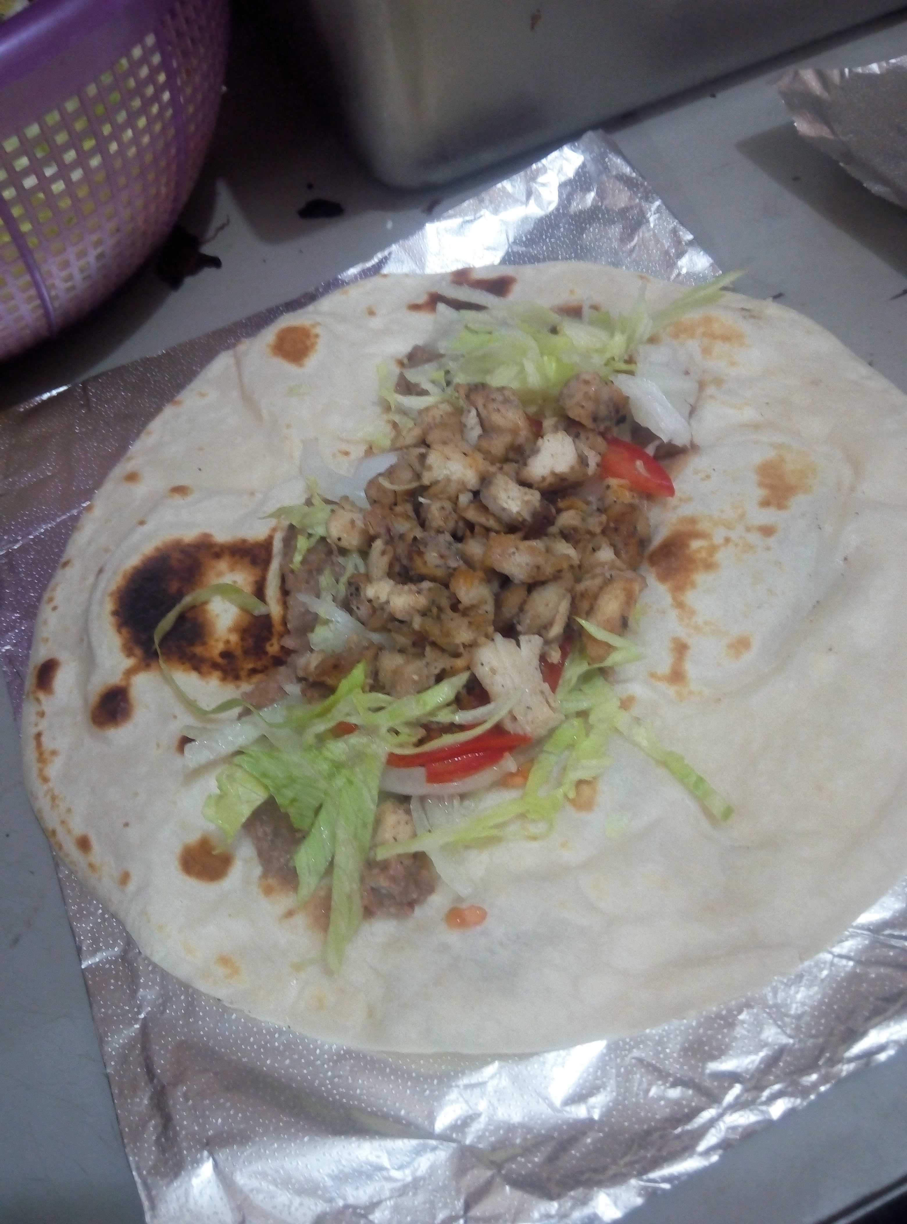 Burrito de fajita de pollo