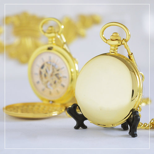 Gold Mechanical Pocket Watch (Double Hunter)