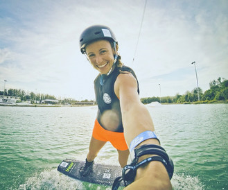 Cable training at the international wake park in Phuket