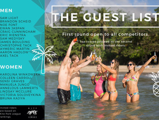 The invited riders list for the 2nd Blue Palawan Kiteboard Open is out