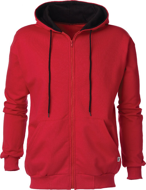 KF9047 2Tone Full Zip Hooded Jacket