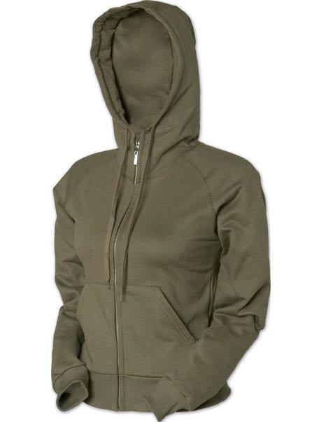 KF9027 Ladies Junior Fit Full Zip Hooded Jacket (Clearance)
