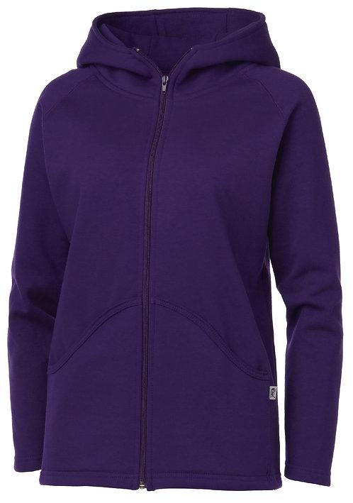 KF9006 Ladies Full Zip High Collar Hooded Jacket