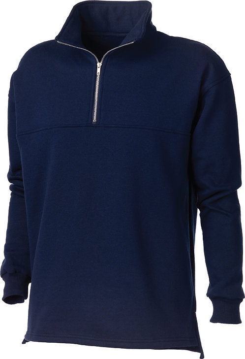 KF9026 Men's 1/4 Zip Open Bottom Pullover
