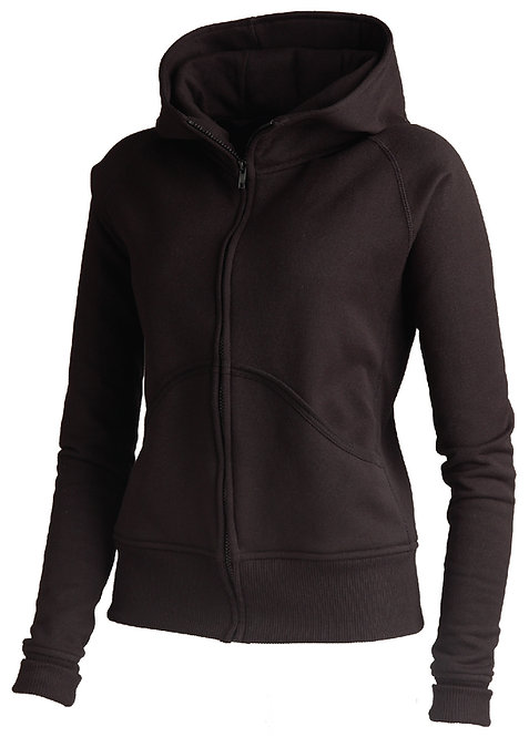KF9081 Double Hooded High Collar Pullover