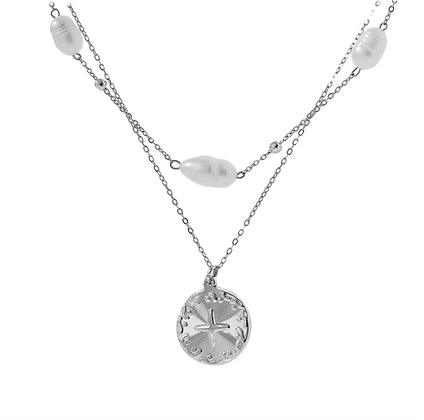 Silver Plated Ocean Necklace