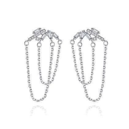 Silver Plated Chandelier Drop Earrings