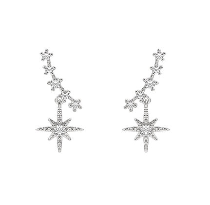 Silver Plated Pria Earrings