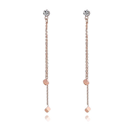 Rose Gold Plated Nicole Earrings