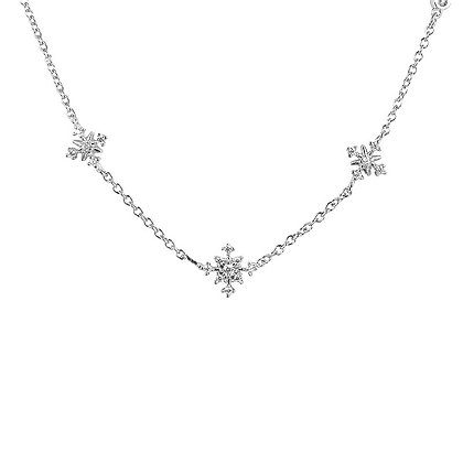Silver Plated Snowflake Necklace