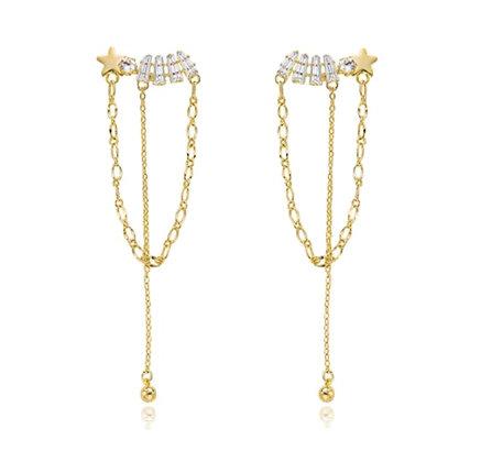 Gold Plated Winter Sky Earrings