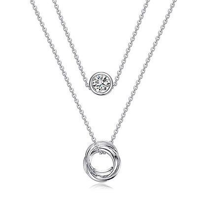 Silver Plated Paris Necklace