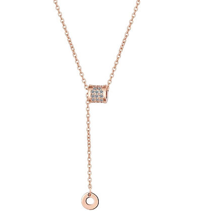 Rose Gold Plated Xio Necklace