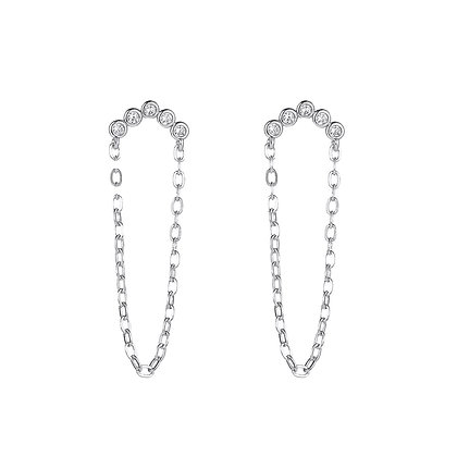 Silver Plated Oman Drop Earrin