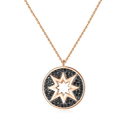 Rose Gold Plated Tallulah Star  Necklace