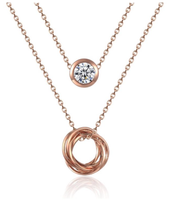 Rose Gold Plated Paris Necklace