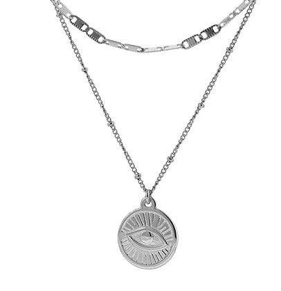 Silver Plated Eye Necklace
