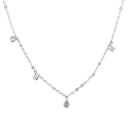 Silver Plated Starlight Necklace