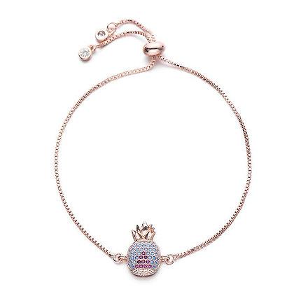 Blue Pineapple Bracelet