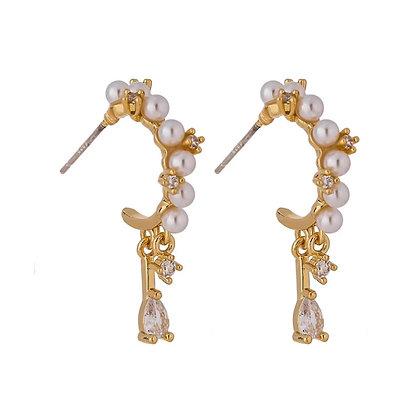 Gold Plated Nori Earrings