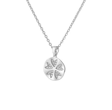 Silver Plated Clover Necklace