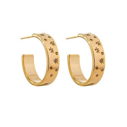 Gold Plated India Hoop Earrings