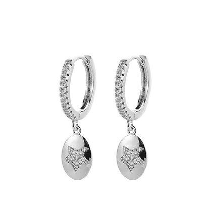 Silver Plated Mio Hoop Earrings