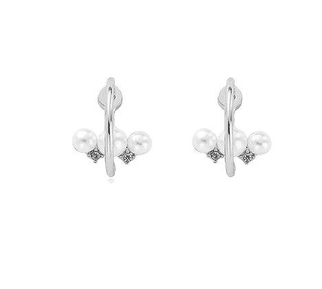 Silver Plated Noa Hoop Earrings