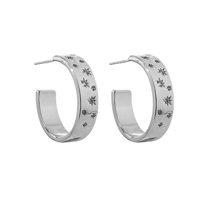 Silver Plated India Hoop Earrings