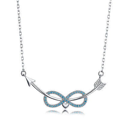 Silver Plated Infinity Arrow Necklace