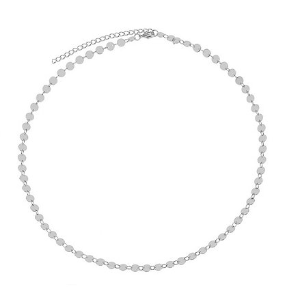Silver Plated Coin Choker
