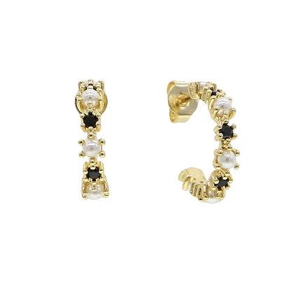 Gold Plated Turin Hoop Earrings