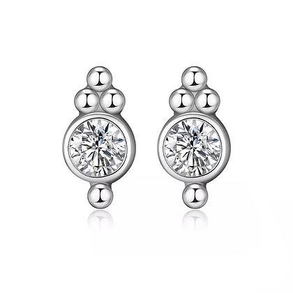 Sterling Silver India Stud Earrings
