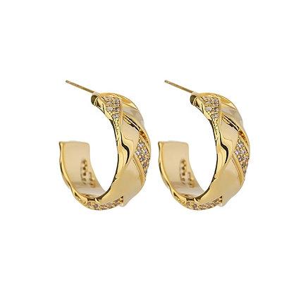Gold Plated Noa Hoop Earrings