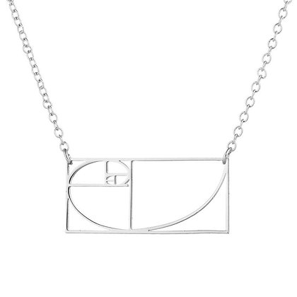 Silver Plated Geometry Necklace