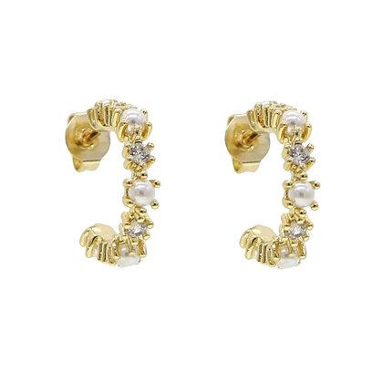 Gold Plated Milan Hoop Earrings