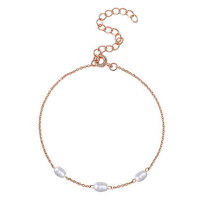 Rose Gold Pearl braclet