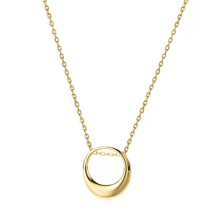 Gold Plated Ring Necklace