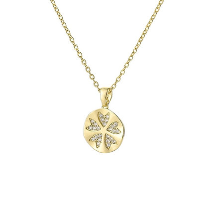 Clover Gold Plated Necklace