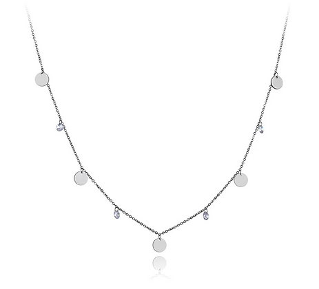 Silver Plated Lio Coin Necklace