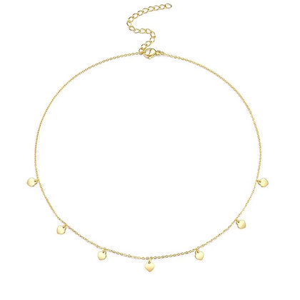 Gold Plated Ace Necklace