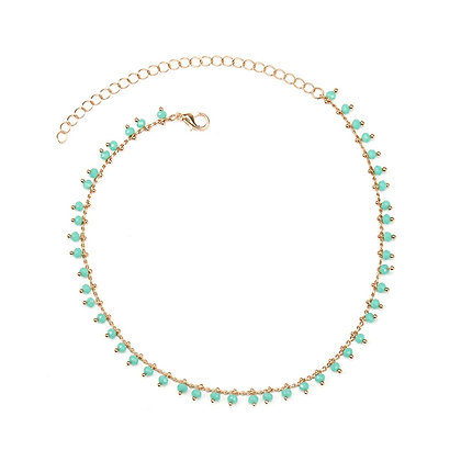 Green Beads Choker Necklace