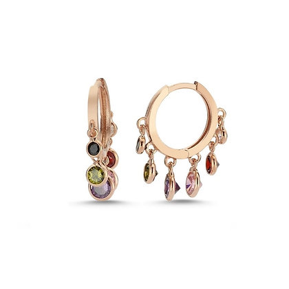 Rose Gold Plated Alma Hoop Earrings