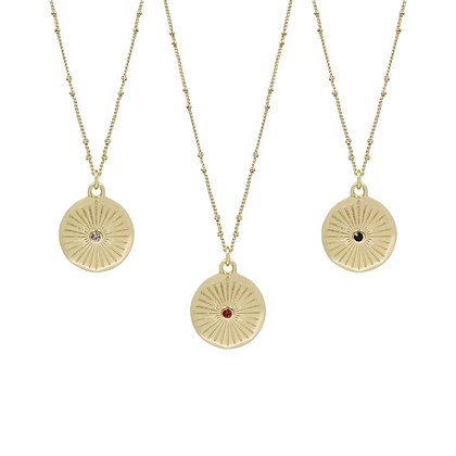 Gold Plated Mizon Coin Necklace