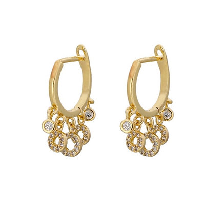 Gold Plated Oma Hoop Earrings