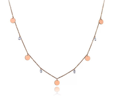 Rose Gold Plated Lio Coin Necklace