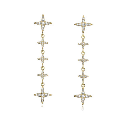 Gold Plated Roda Drop Earrings