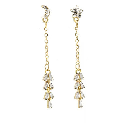 Gold Plated Starlight Drop Earrings