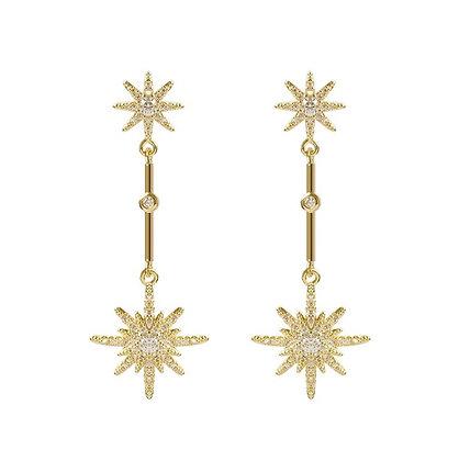 Gold Plated Starburst Earrings